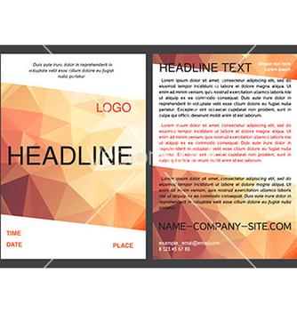 Free brochure design template in eps vector - Kostenloses vector #234323