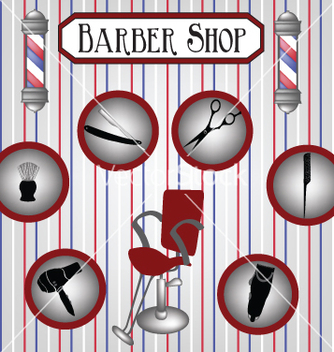 Free barber shop vector - Free vector #234443