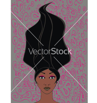 Free black girl with hair vector - Kostenloses vector #234453