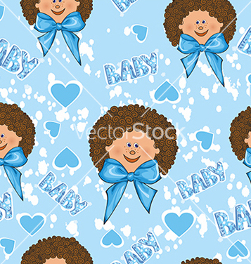 Free pattern for a boy on a blue background vector - vector gratuit #234673