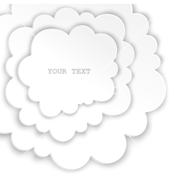 Free white clouds vector - vector gratuit #234713