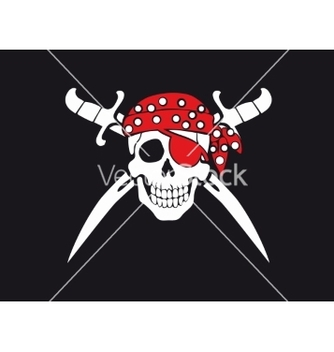 Free jolly roger pirate flag vector - Kostenloses vector #235023