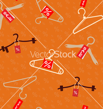 Free pattern with hangers vector - бесплатный vector #235043