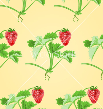 Free seamless texture of strawberries with leaves vector - Free vector #235053
