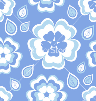Free seamless pattern blue with sakura blossom vector - Free vector #235083