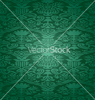 Free green seamless abstract floral pattern background vector - Free vector #235223
