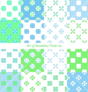 Free seamless patterns vector - vector #235423 gratis