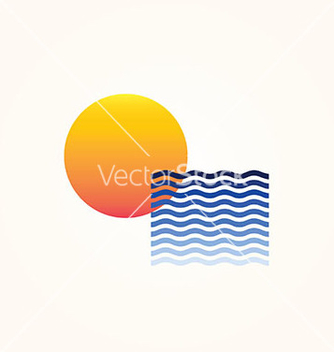 Free sun sea vector - Free vector #235643