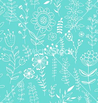 Free floral seamless pattern vector - Kostenloses vector #235663