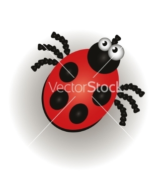 Free ladybug isolated on the white background vector - Kostenloses vector #235753
