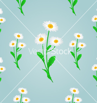Free seamless texture daisy spring blue background vector - Free vector #236003