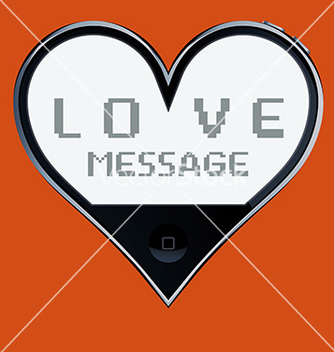 Free heart shaped telephone vector - vector gratuit(e) #236053