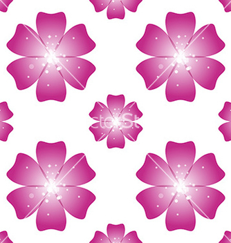 Free beautiful pink flower seamless floral pattern vector - Free vector #236163