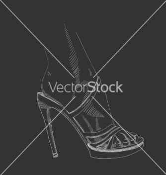 Free handdrawing female foot vector - vector gratuit(e) #236223