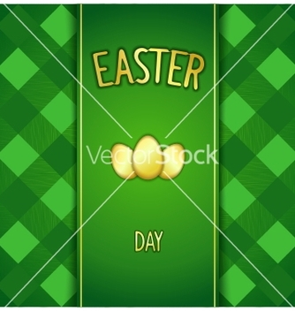 Free green happy easter card vector - Free vector #236263