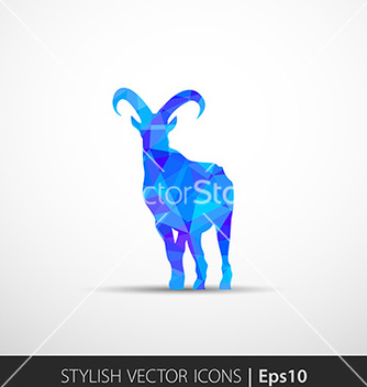Free colorful with silhouette of goat vector - vector gratuit #236283