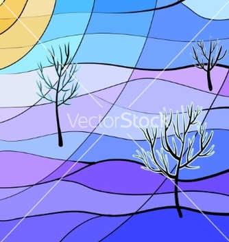 Free winter landscape vector - бесплатный vector #236323