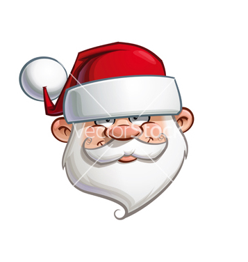 Free happy santa head vector - vector gratuit #236373