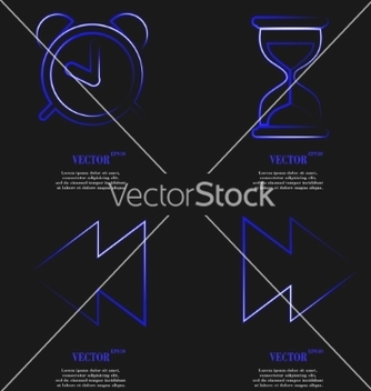 Free set of blue web icon flat design simple sticker vector - Free vector #236683