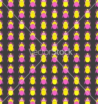 Free seamless pattern with bugs vector - vector #236733 gratis