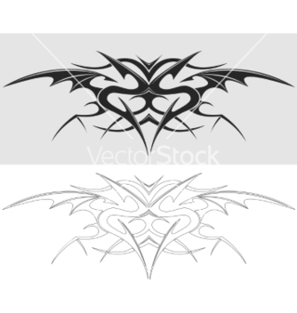 Free dragon tattoo silhouette vector - Free vector #236743