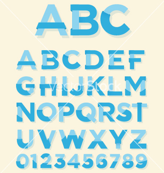 Free retro type font vector - Free vector #236773