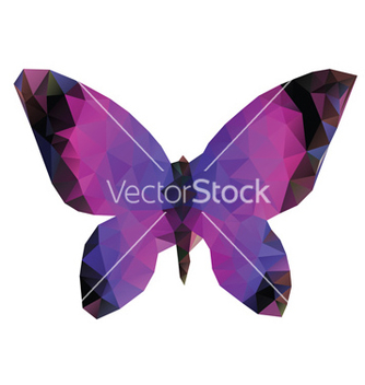 Free polygonal butterfly vector - Kostenloses vector #236973