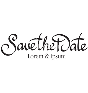 Free save the date hand lettering vector - бесплатный vector #236983