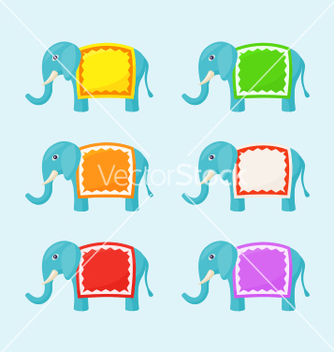 Free elephant with small frame vector - Free vector #237183