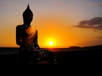 Buddha in sunset - Free image #237283