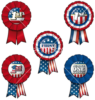Free ribbon usa first vector - Free vector #237453