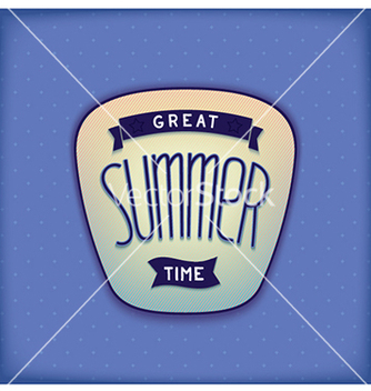 Free summer label design vector - Kostenloses vector #237723
