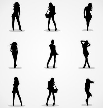 Free girl silhouettes vector - Free vector #237743