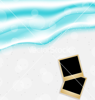 Free beach background with set photo frames vector - Free vector #237763