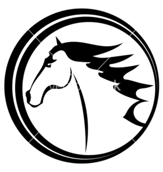 Free horse tattoo character in a circle vector - Free vector #237893