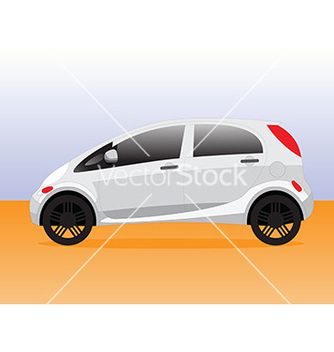 Free small compact city car vector - Kostenloses vector #237923