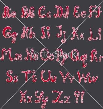 Free handwritten alphabet vector - Free vector #237973