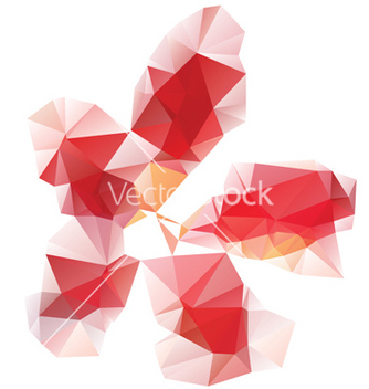 Free red polygonal flower vector - vector gratuit #237983