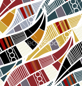Free seamless pattern with stylized leaves vector - Free vector #238023