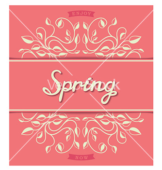 Free spring card with floral pattern vector - Free vector #238093