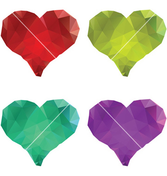 Free polygonal hearts set5 vector - Free vector #238103
