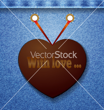 Free abstract denim background with heart vector - Free vector #238153