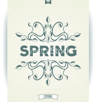 Free spring word with leaves swirly vector - Free vector #238273