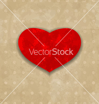 Free red grunge heart for valentine day vector - Kostenloses vector #238403