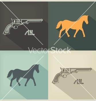 Free western flat design sign vector - vector gratuit #238443