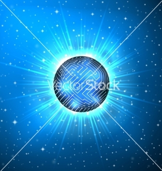 Free abstract sphere of electronic circuitry vector - Free vector #238473