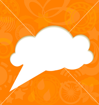 Free paper cloud on funky background vector - Free vector #238583