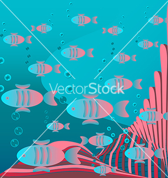 Free fish floating vector - vector #238613 gratis