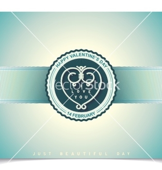 Free heraldry labels design for valentines day vector - Free vector #238713