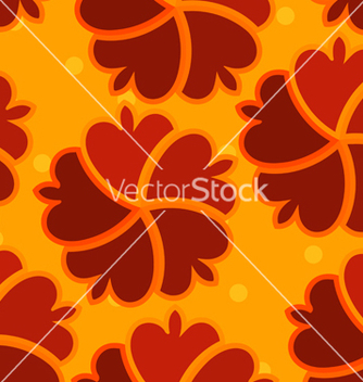 Free abstract seamless texture with red flower vector - Free vector #238753